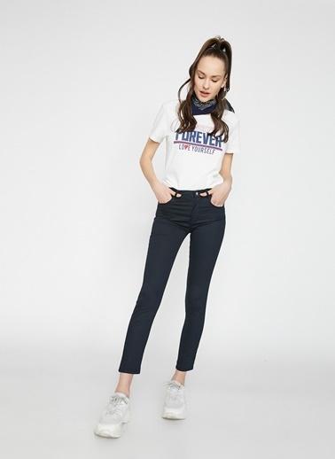 Koton Koton Dar Kadın Pantolon Lacivert